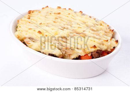 Original Shepherd's Pie Made With Ground Lamb, Fresh Vegetables And Mashed Potatoes