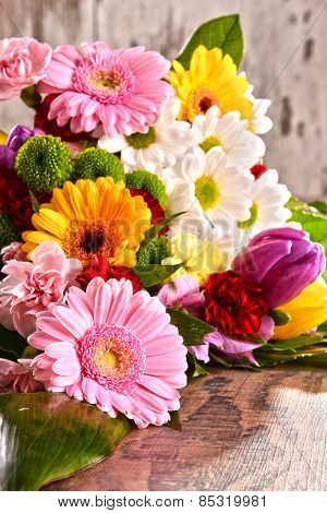 Composition With Bouquet Of Flowers