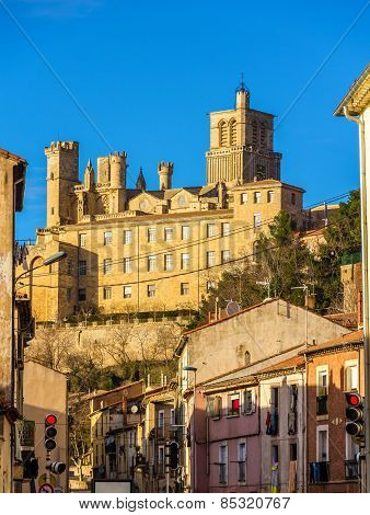 View Of St. Nazaire Cathedral In Beziers, France