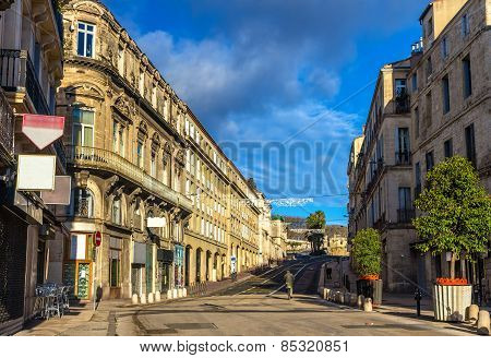Boulevard Ledru-rollin In Montpellier - France, Languedoc-roussillon