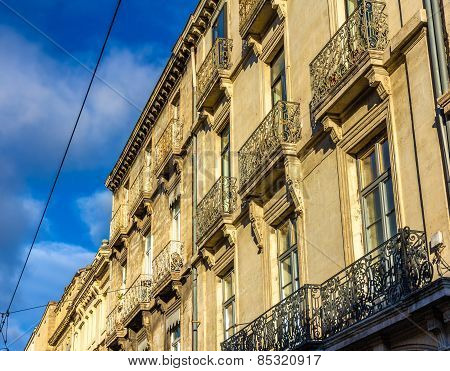Facade Of A Building In Montpellier - France, Languedoc-roussillon
