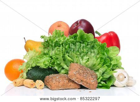 Fruits And Vegetables Diet Weight Loss Morning Breakfast Concept