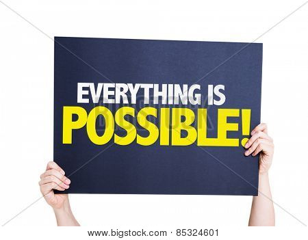 Everything is Possible card isolated on white