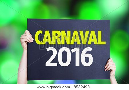 Carnaval 2016 card with bokeh background