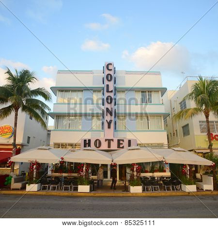 Art Deco Style Colony in Miami Beach