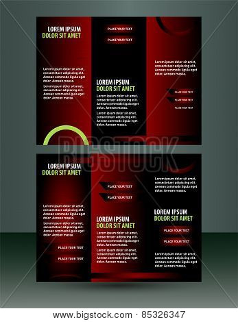Red  Brochure flyer design Layout vector template