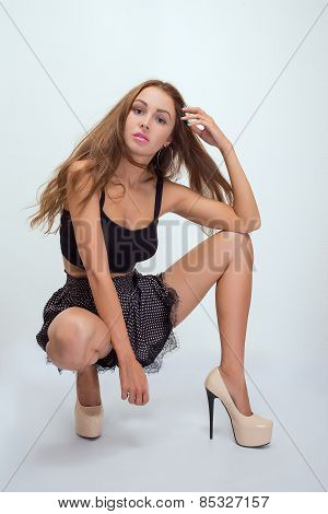 Woman Sitting Squat