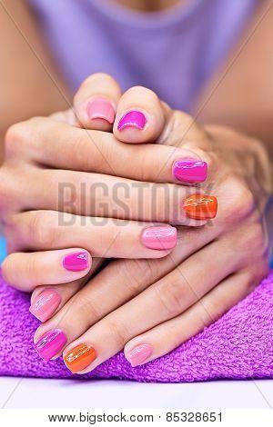 Bright stylish manicure