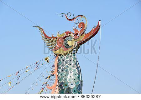 Naga sculpture at the Golden Triangle, Chiang Rai, Thailand
