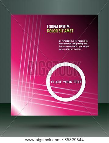 Pink flyer brochure