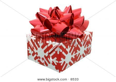 Red Bow Gift W/Clipping Path