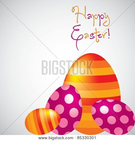 Happy Easter Egg Card In Vector Format.
