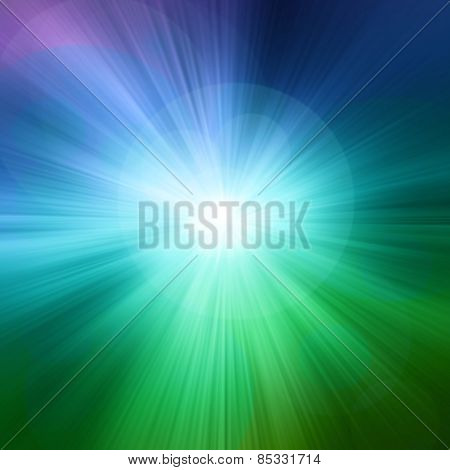 Starburst Green Abstract Background