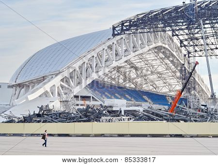Fisht Olympic Stadium in Sochi, Russia, 2015