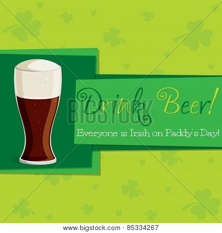 Funky St. Patrick's Day Card In Vector Format.