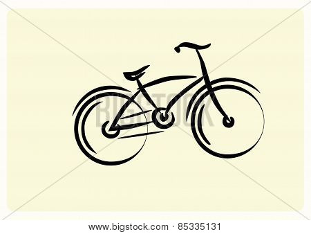 bicycle on a light yellow background