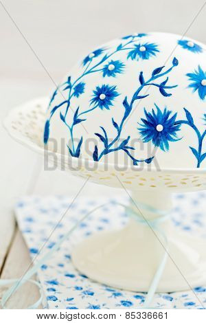 Cake With Painted Flowers