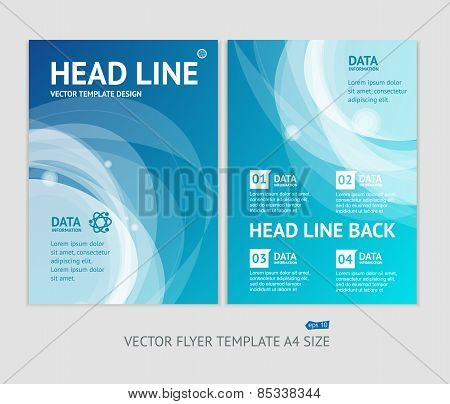 Vector abstract geometric brochure flyer design templates