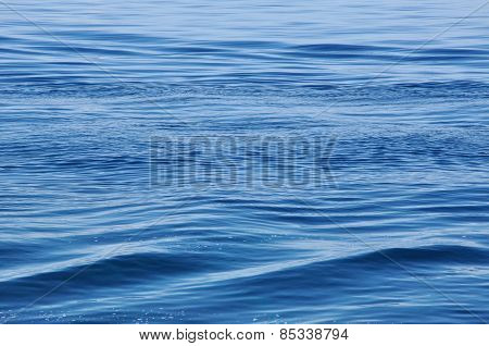 Water Surface With Waves And Ripples As Background