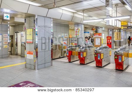 Subway in Osaka
