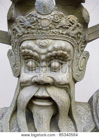 Chinese stone statue in Wat Pho, Bangkok, Thailand