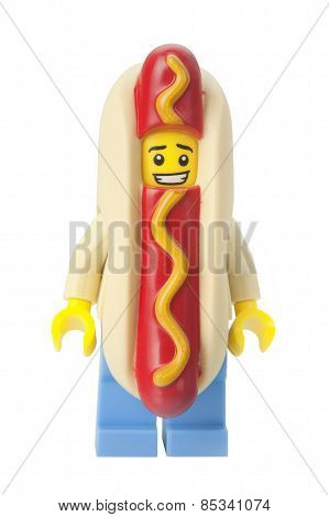 Hot Dog Guy Lego Minifigure