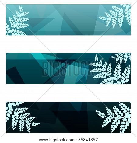Foliage geometric banners