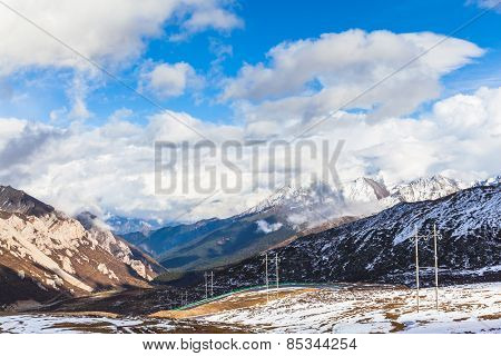 Panorama View Of The Mountains On The Highland Of Sichuan Province