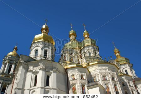 Church with golden spires