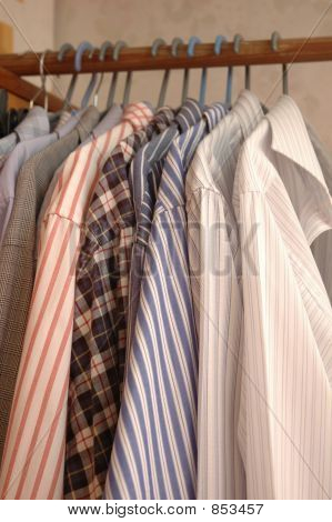 Shirts on hangers