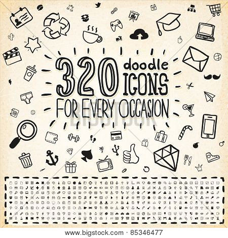 320 Vector Doodle Icons