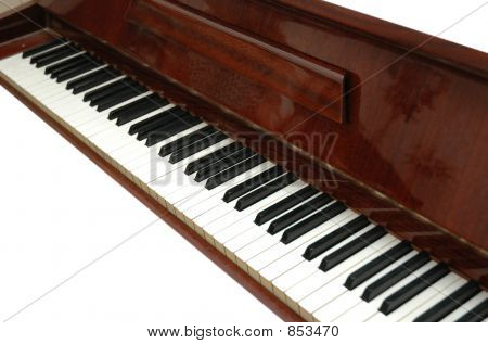 schwarzen und weißen Klaviertasten, isoliert auf weiss