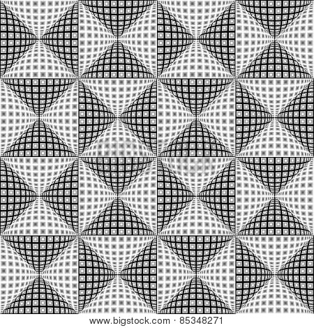 Design Seamless Monochrome Triangular Pattern