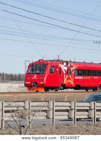 Red Train Aeroexpress Sheremetyevo