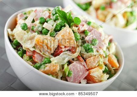 Potato Salad With Peas