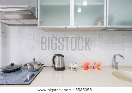 Kitchen interior closeup