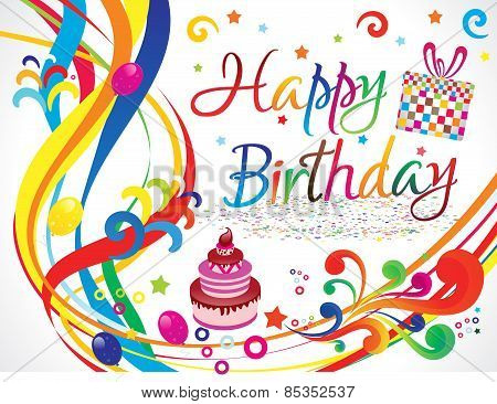 Abstract Colorful Artistic Birthday