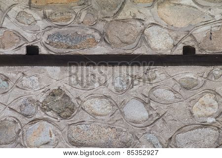Detail Of Old Traditional House Wall