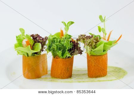 Finger Food Carrot Salad Roll