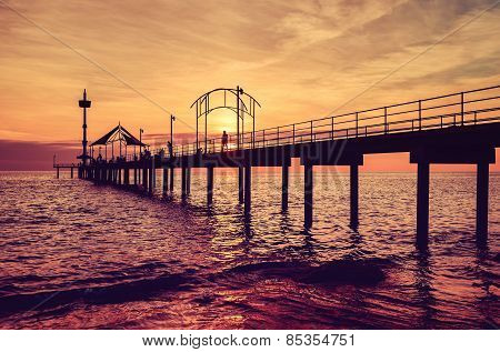 Pier and sunset