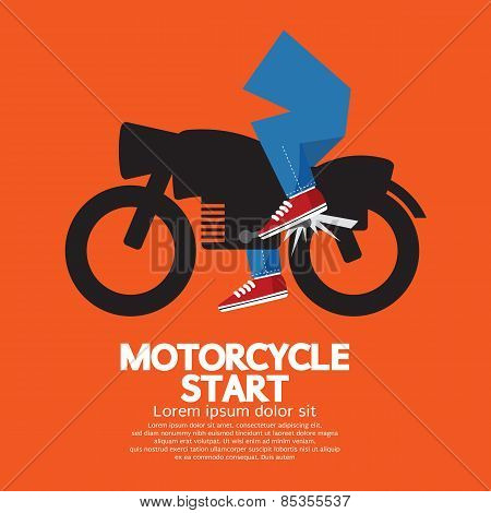 Starting Motorcycle Graphic.