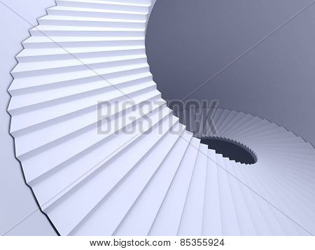 Abstract spiral staircase
