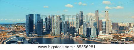 Singapore downtown skyline with urban buildings