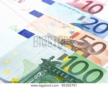 Ready euro banknotes