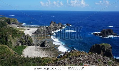Beautiful Coast And Rock In Kenting South Taiwan