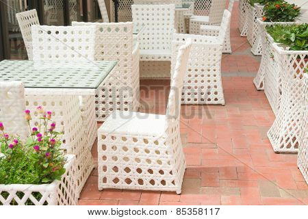 Rattan Sofa And Table Sets In Outdoor