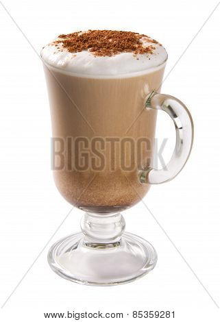 Cappuccino isolated on white background