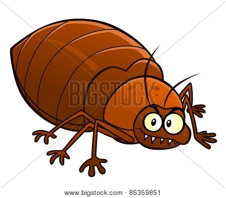 Cartoon Smiling Bedbug