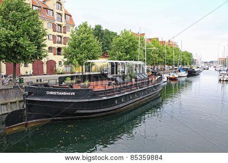 Touristic Boat In Copenhagen, Denmark