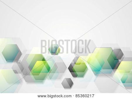 Abstract geometric background with hexagons. Vector design